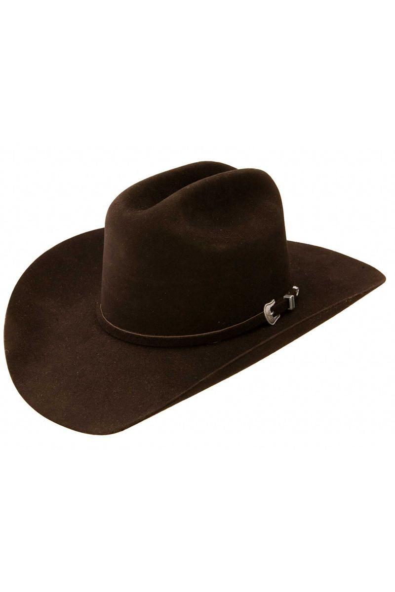 Resistol Men s Challenger 5X Brown Felt Cowboy Hat -  57 off and ships free! 21d4722ffd0
