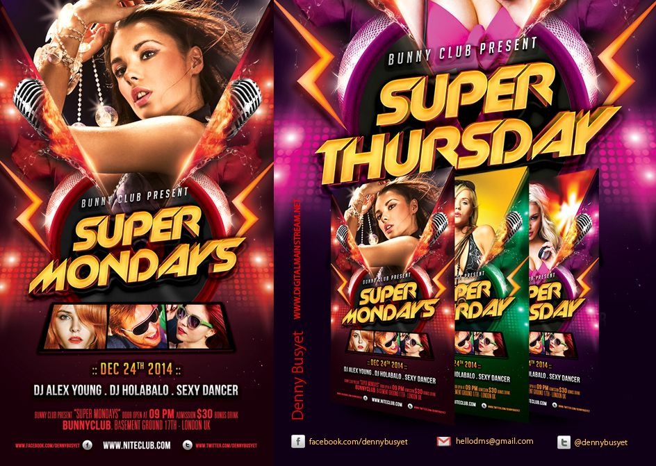 Everyday Party Nightclub Psd Flyer Template  Psd Flyer Templates