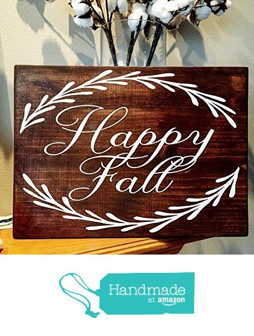Happy fall wood sign, harvest wood sign from MH Home Spun Creations...Where country meets chic https://www.amazon.com/dp/B01M195PJ5/ref=hnd_sw_r_pi_dp_RP96xbZ4BXVWR #handmadeatamazon