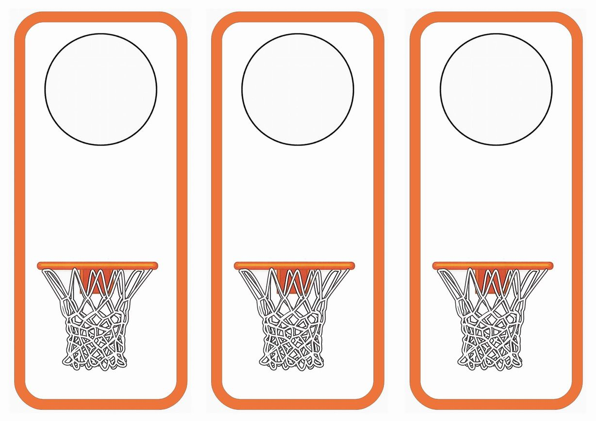 Basketball Door Hangers Birthday Printable