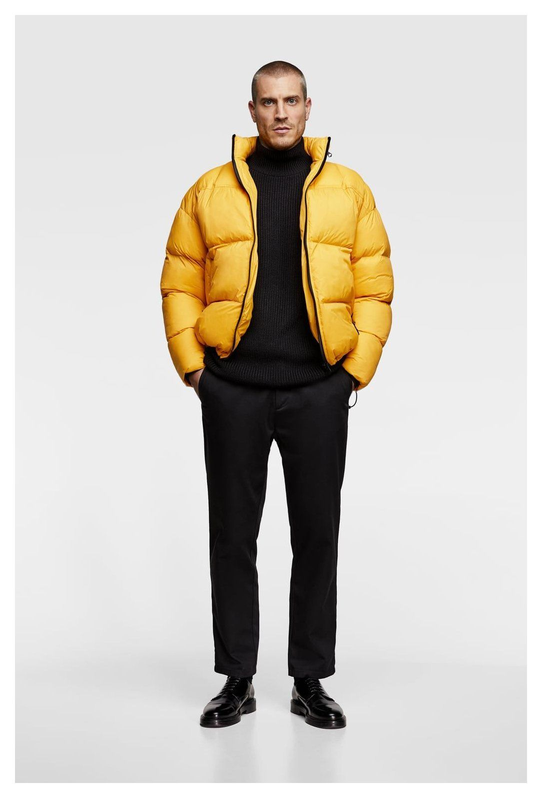 Puffer Jacket Men Image 1 Of Oversized Puffer Jacket From Zara Mens Puffer Jacket Puffer Jacket Men Winter Jacket Outfits [ 1596 x 1084 Pixel ]