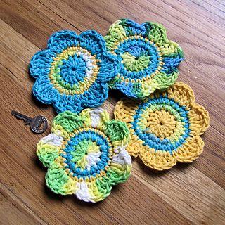 Free crochet pattern   Coasters