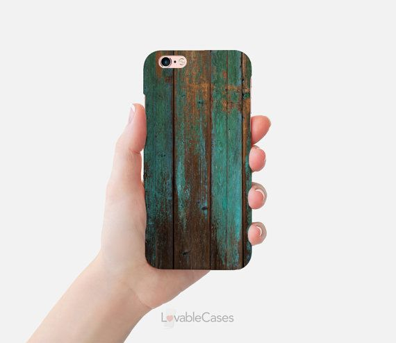 iPhone 6s case slim old style Wood Cover Print  by LovableCases