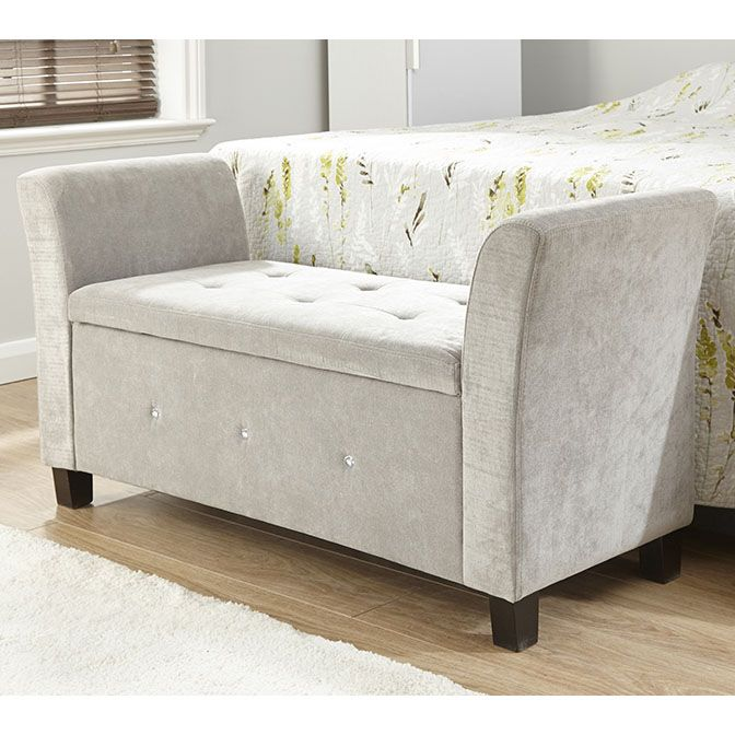 Verona Upholstered Ottoman – Next Day Delivery Verona Upholstered ...