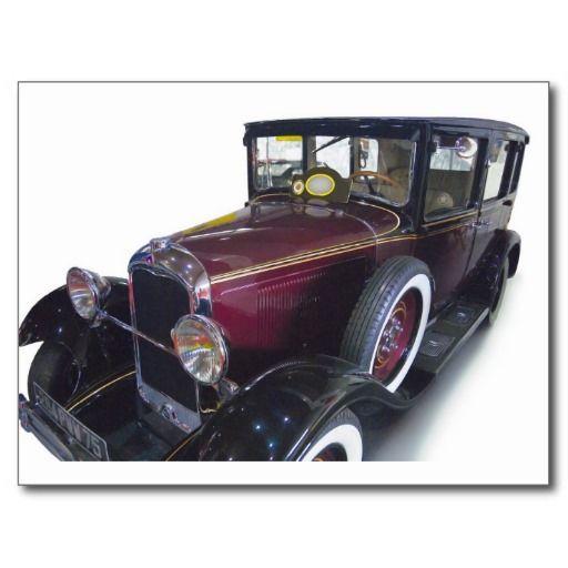 Oldtimer car postcards