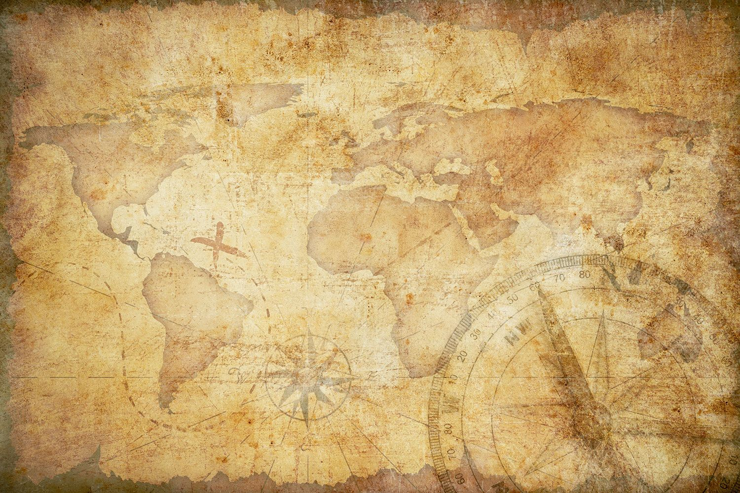 Faded World Map Wallpaper | Wall Decor | PAGE LAYOUTS | Pinterest ...