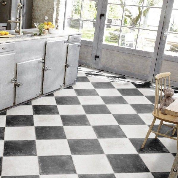 pvc boden tarkett stone 450 chesstone black 4m | fußboden ... - Pvc Bodenbelag Küche