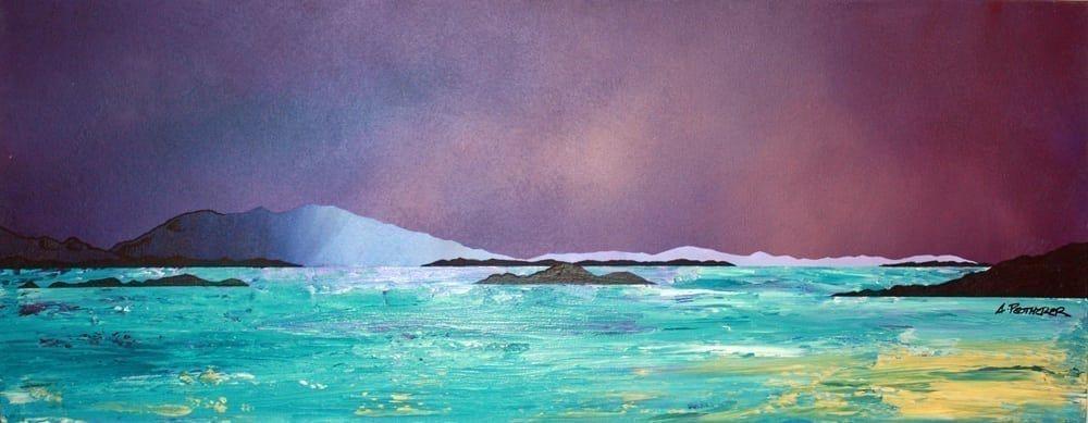 LOCH LONG ARGYLL SCOTTLAND LANDSCAPE SCOTTISH PAINTING ART REAL CANVAS PRINT