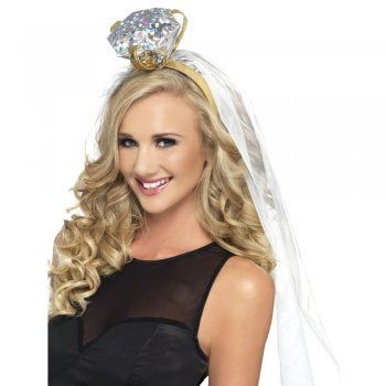 Ladies Bride To Be Tiara With Veil Hen Do Night Party Headwear Crown Accessory