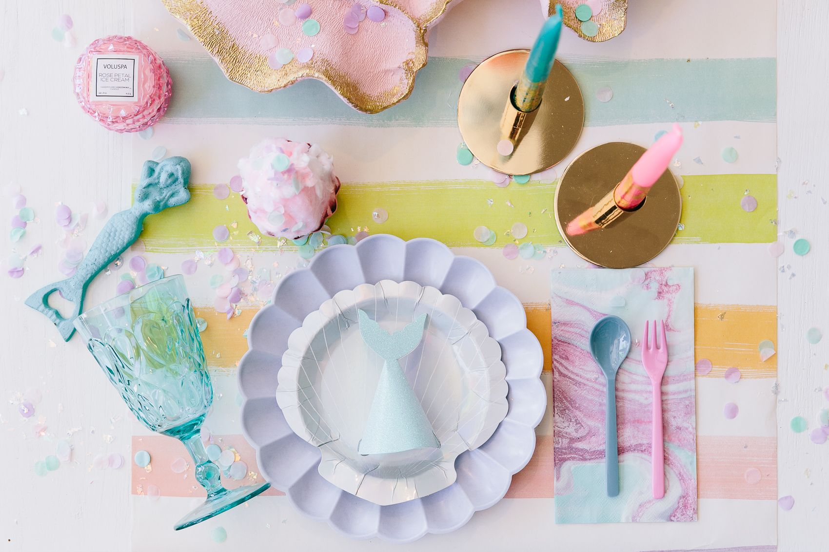 Our Favorite Tableware For An Under The Sea Ocean Themed Mermaid