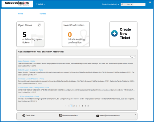 SuccessFactors- 1408 Release-Employee Central Service Center – this