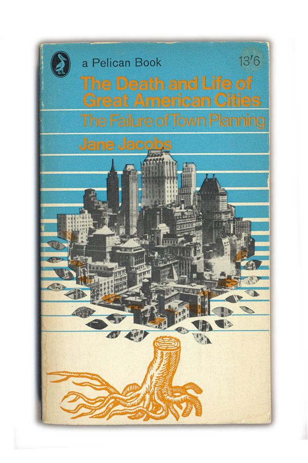 Death Of Cities Jane Jacobs Book Cover Art Vintage Book Covers