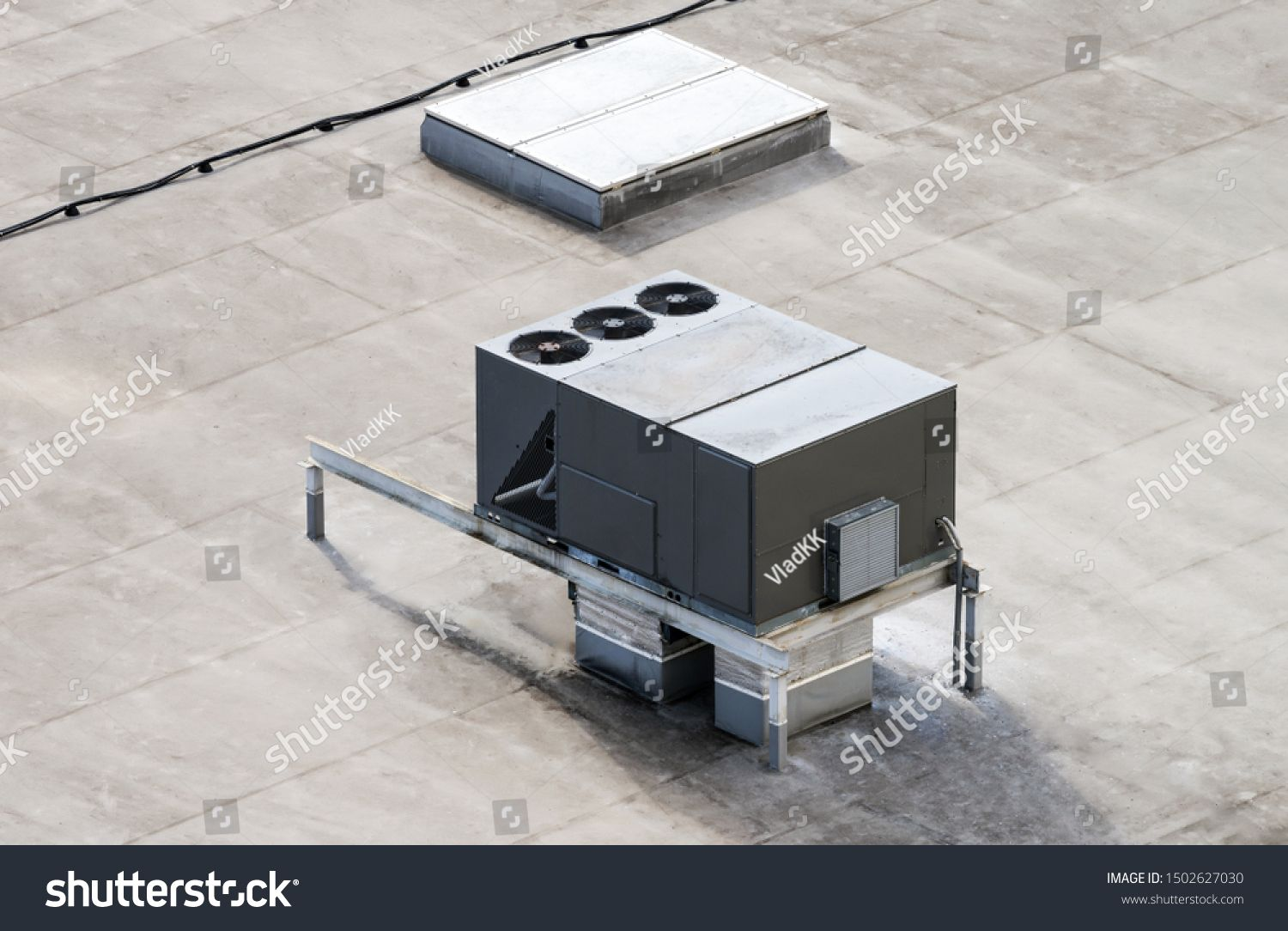 The external units of the commercial air conditioning and