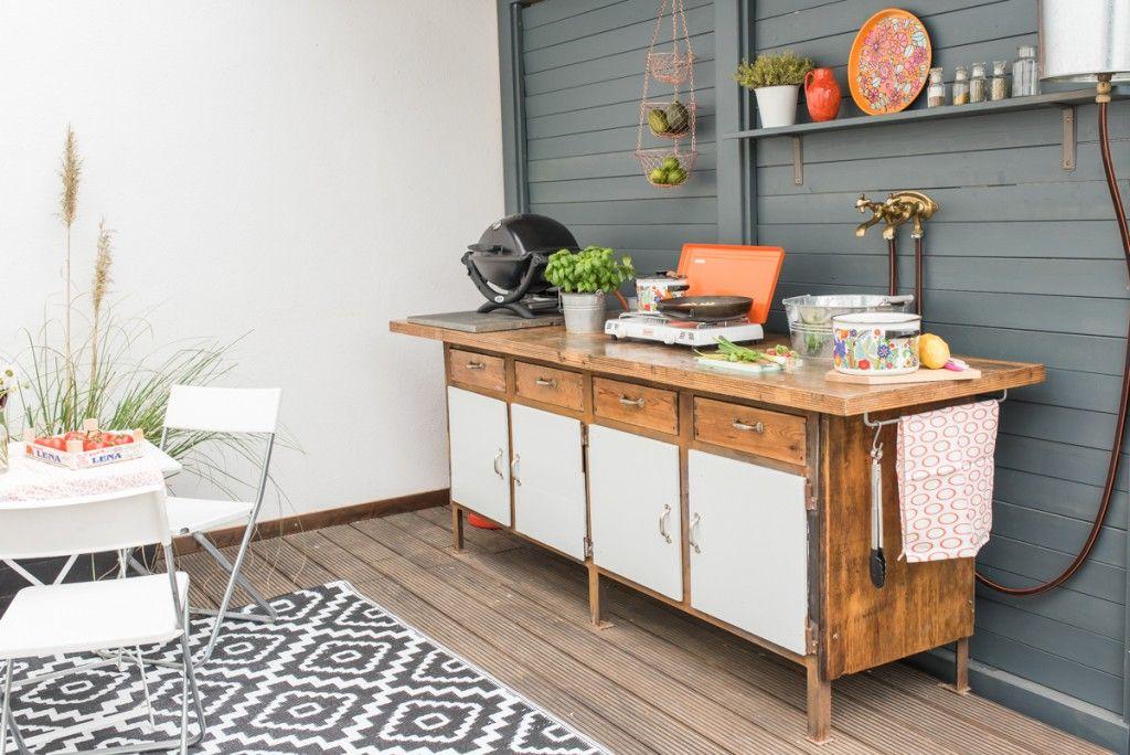 Diy - Upcycling Outdoor Küche Aus Einer Werkbank | Retro Vintage