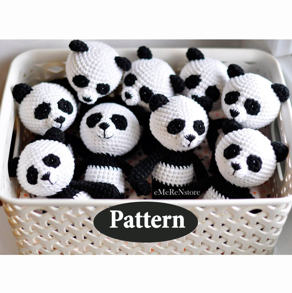 Panda pattern, Amigurumi panda pattern, Cute panda pattern, Crochet ...