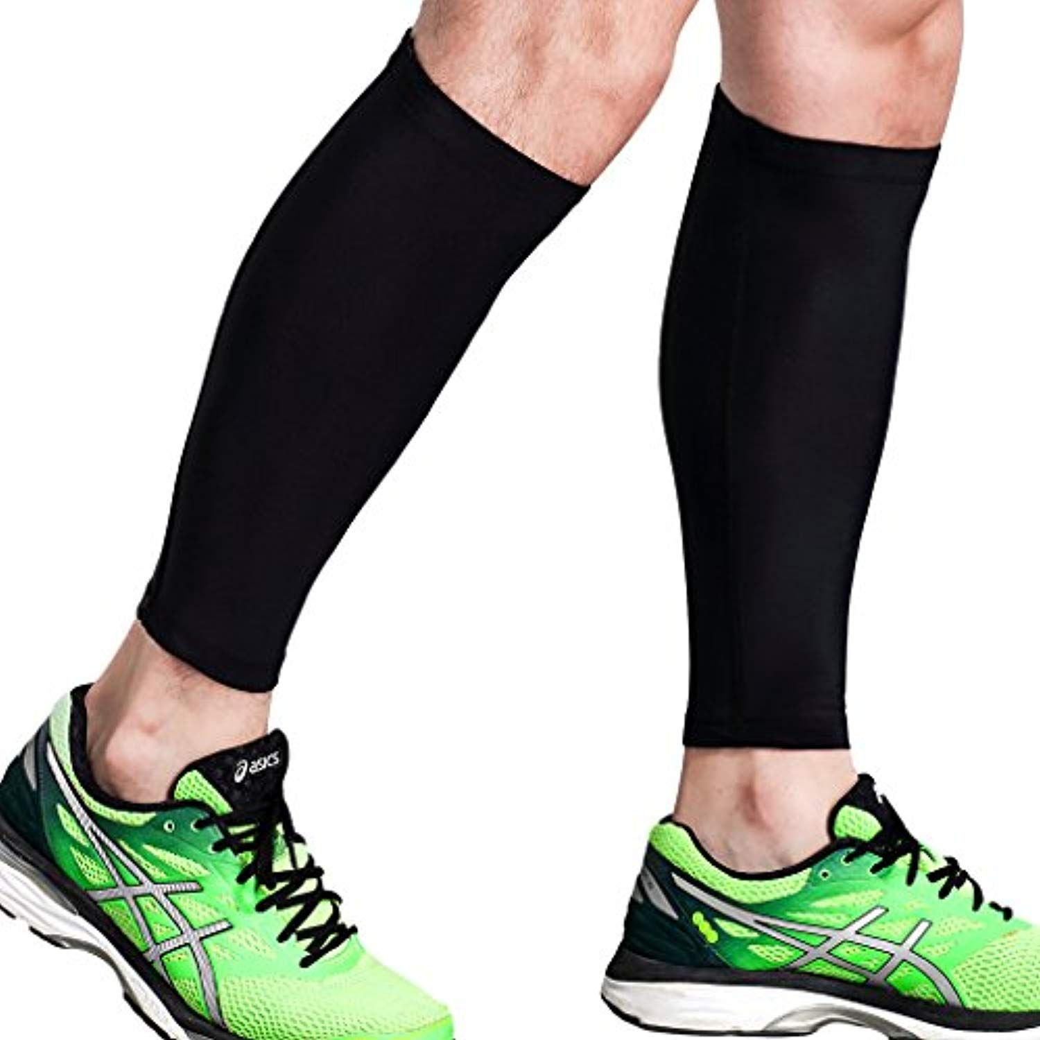 eaf32d68ea Calf Compression Sleeve - Leg Compression Socks for Shin Splint, Calf Pain  Relief - Men, Women, and Runners - Calf Guard for Running, Cycling,  Maternity, ...