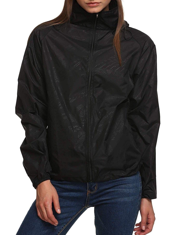MOUTEN Womens Hooded Outdoor Windbreaker Casual Waterproof Raincoat Jacket