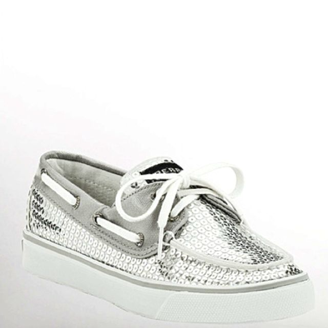 Silver sequin sperrys the only boat shoe I have ever actually liked