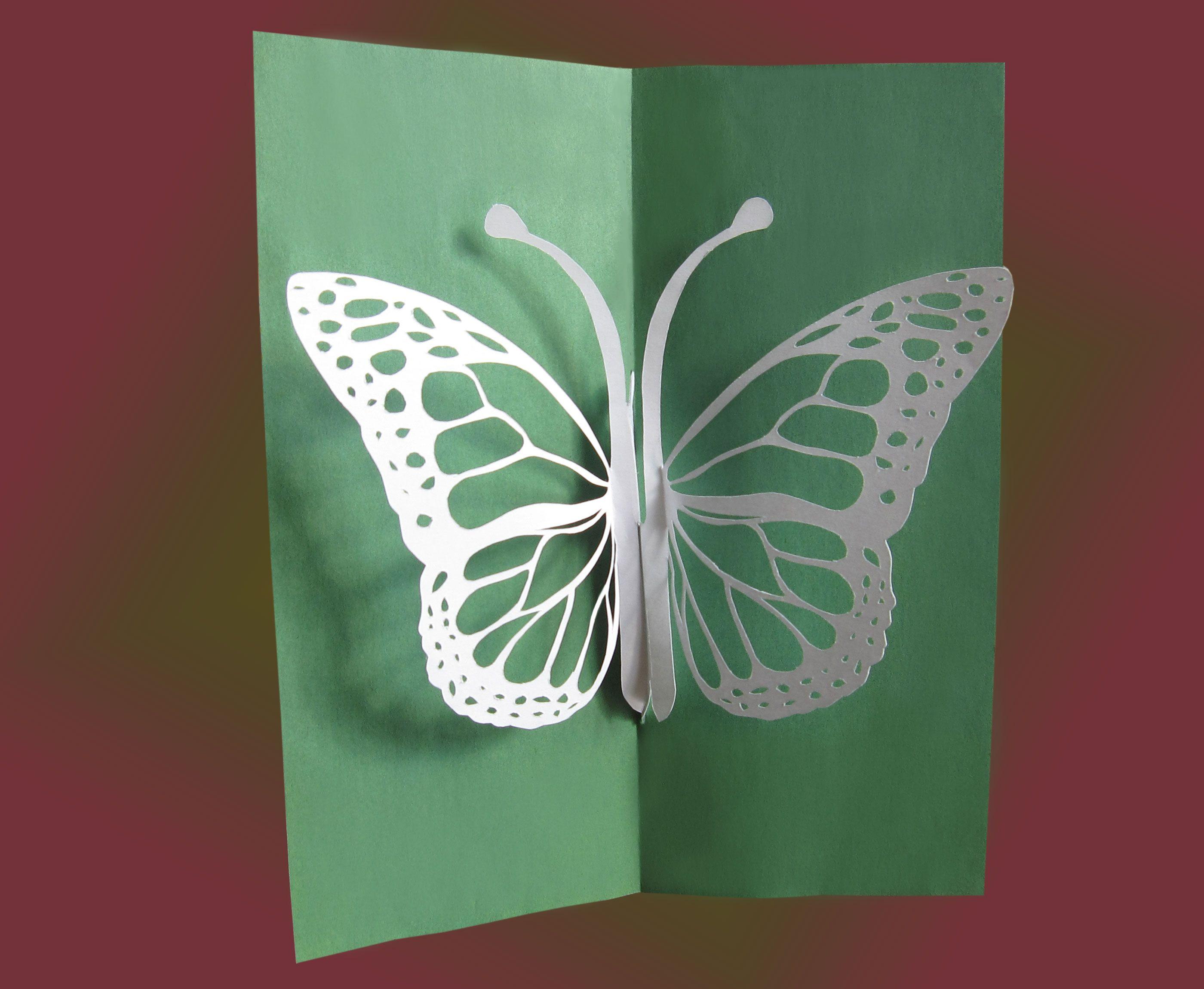 Открытка бабочка из бумаги, смешные прикольные