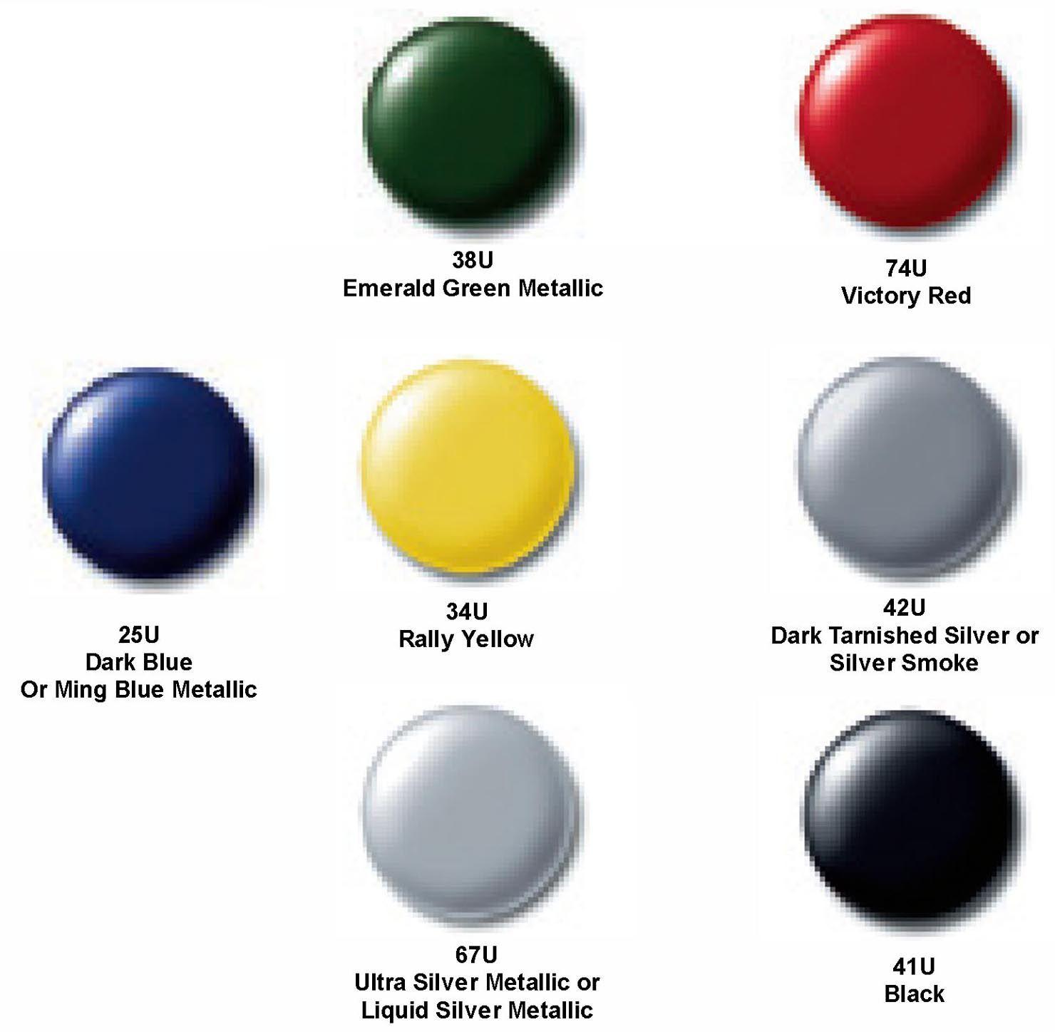 Gm Color Chips Color Chip Of All 7 Colors Auto Paint Colors Codes Pinterest Auto Paint