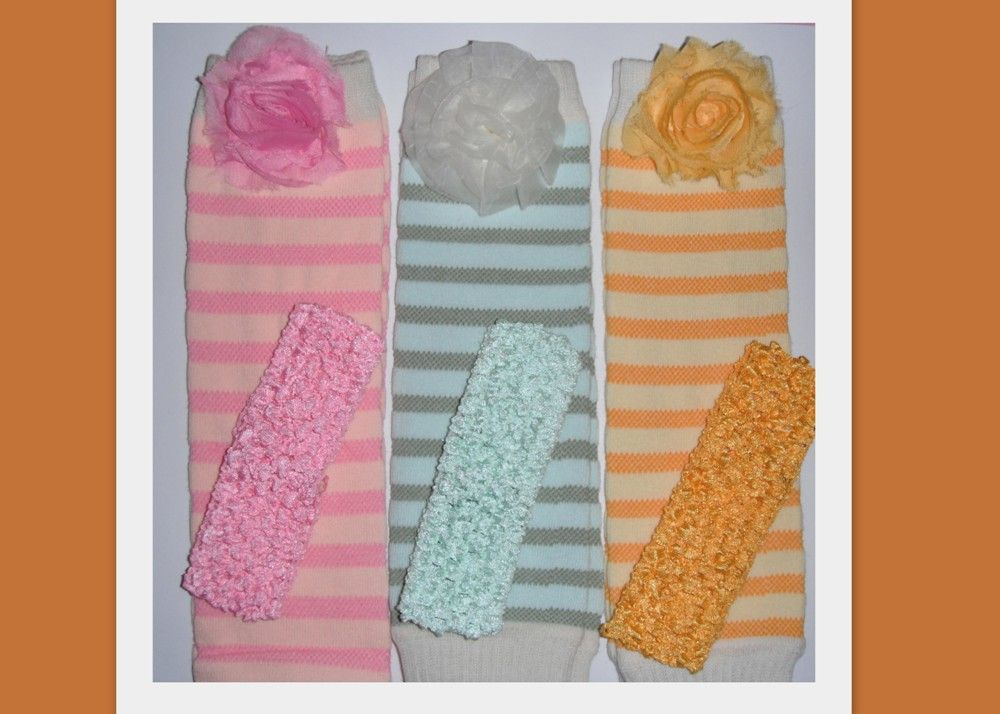 Cute colors for Easter  6 dollar leg warmers