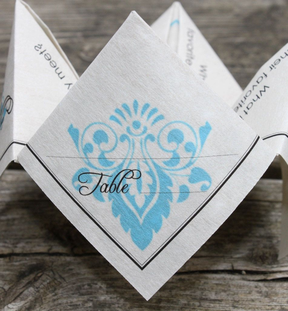 Famous Cootie Catcher Wedding Invitation Ornament Invitations