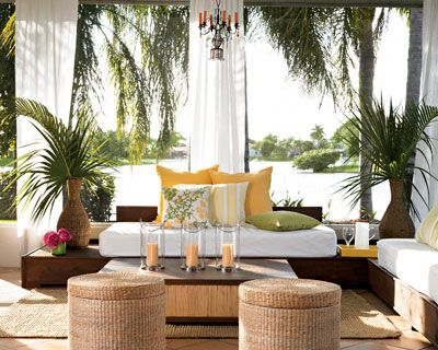 A Homemade Cabana Summer Patio And Balcony Decorating Ideas