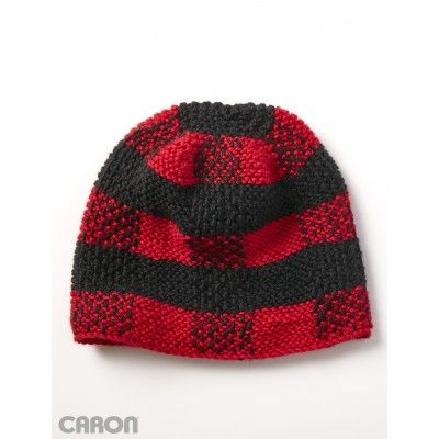 855c71356f761 Lumberjack Beanie - Free Easy Women's Hat Knit Pattern | Knitting ...