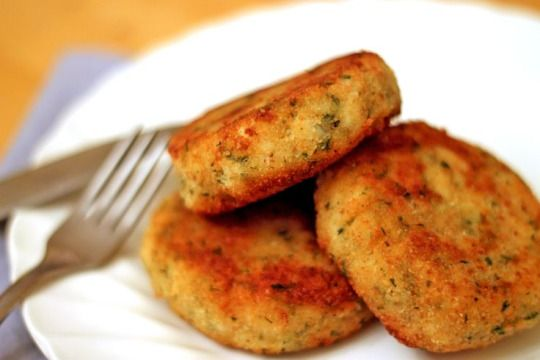 Crab Cakes - Erren's Kitchen - This is a quick and easy recipe for crab cakes that uses canned crab meat instead of fresh. making it something that won't require running out for fresh seafood.