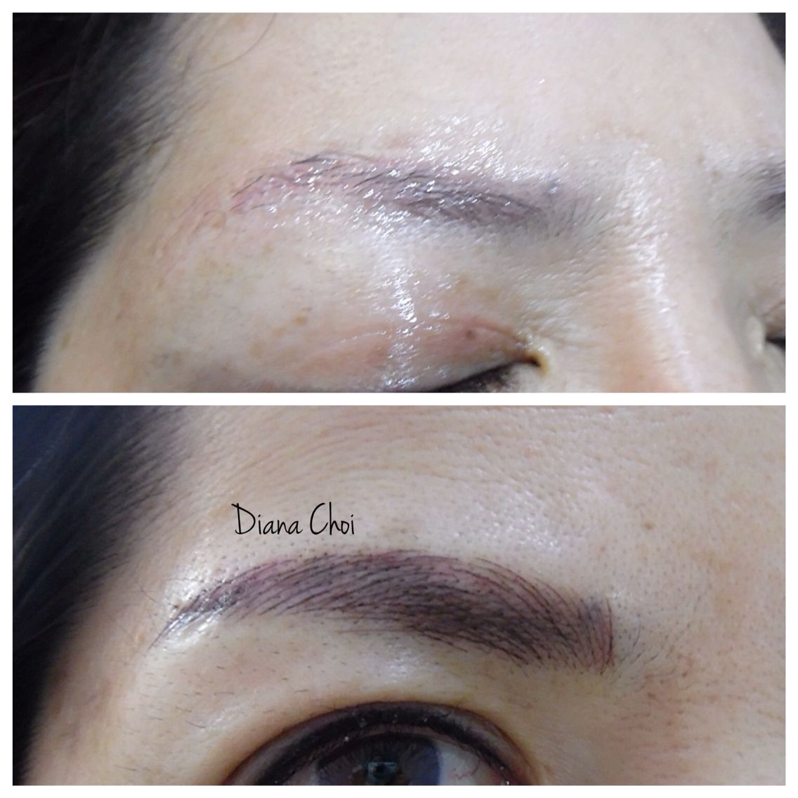 Cover the past eyebrows tattoo. Make it thick and fuller