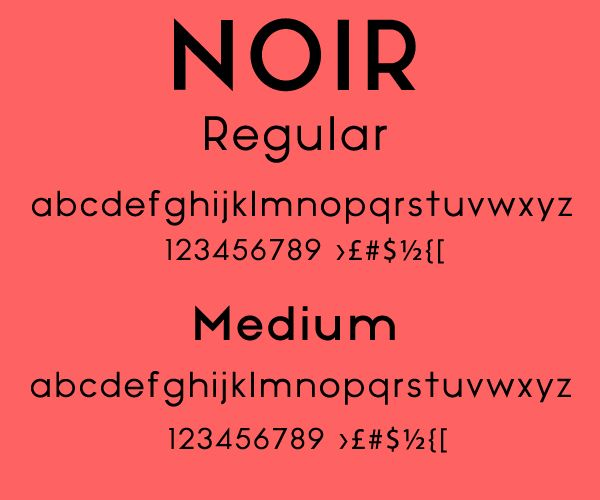 Free Font Of The Day : Noir   Шрифты / Fonts   Шрифты