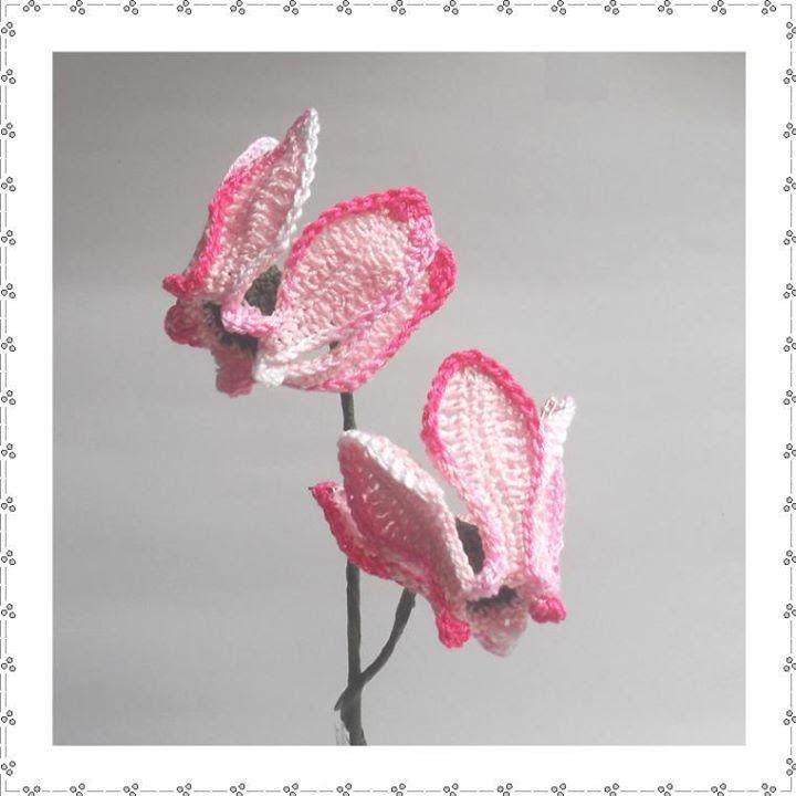 CYCLAMEN | CAL\'S | Pinterest | gehäkelte Blumen, Häkelblumen und Blumen