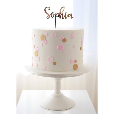 Sweet And Simple With Images Baby Birthday Cakes 1st Birthday