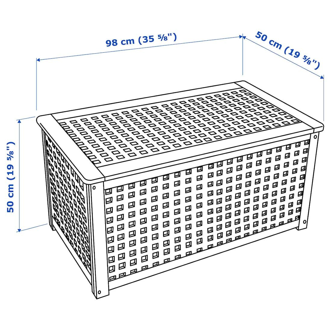 Hol Acacia Storage Table 98x50 Cm Ikea Table Storage Ikea Storage Spaces [ 1100 x 1100 Pixel ]