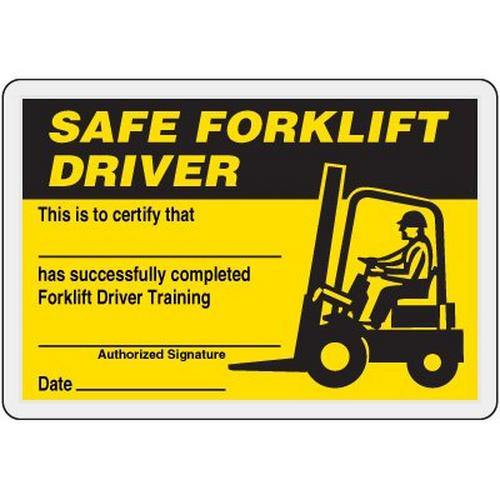 Forklift Certification Card Template (4   Forklift, Driver ...