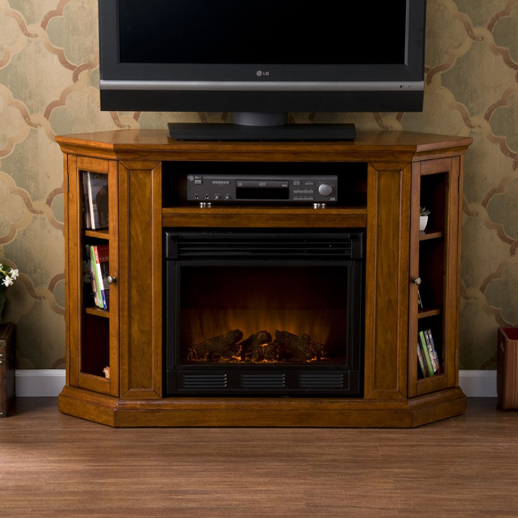 console nutmeg tv glass woolbrook products consoles accessories fireplace w electric media distressed