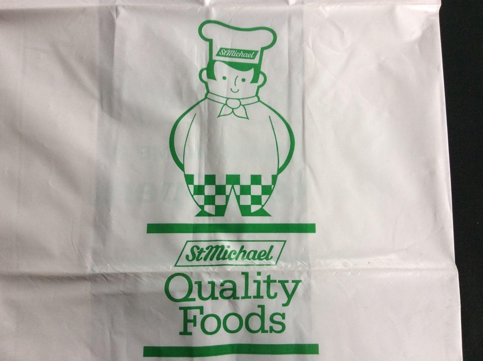 Plastic bag history - Vintage Marks Spencer M S Carrier Bag 1980s 8