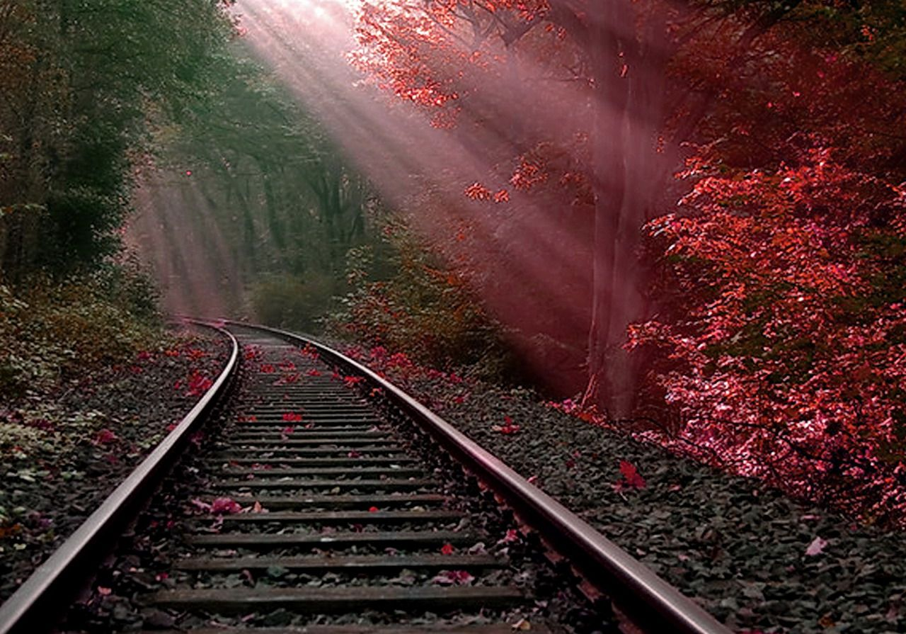 295 railroad hd wallpapers backgrounds wallpaper abyss red things train tracks - Track wallpaper hd ...