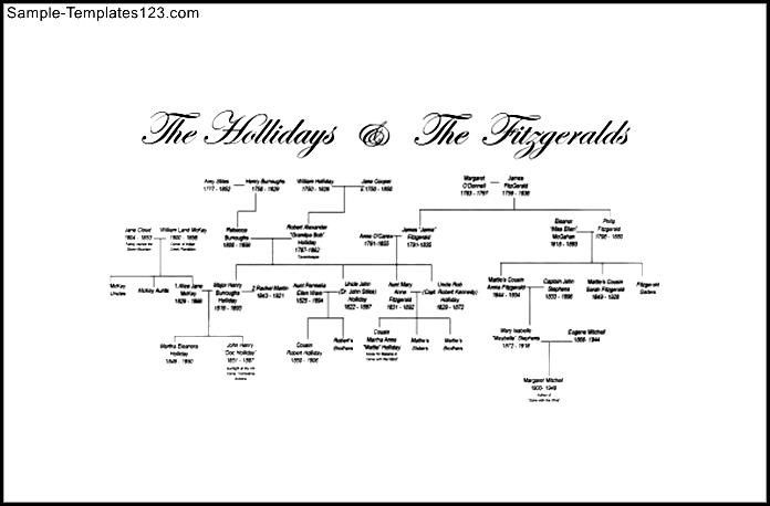 Large Family Tree Sample Pdf Template Free Templates Trees Geneology