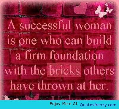 Life Inspiration Quotes A Successful Woman Is one-001