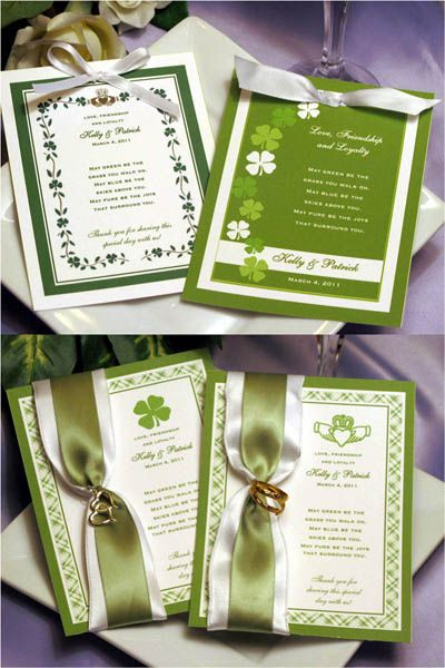Claddagh Irish Shamrock Celtic Seed Packet Wedding Favors Irish Wedding Favors Irish Wedding Traditions Wedding Seed Packet Favors