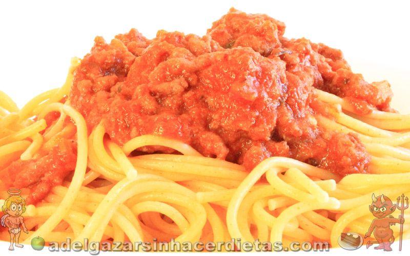 Receta saludable de espaguetis integrales a la bolo esa - Comidas sanas y bajas en calorias ...