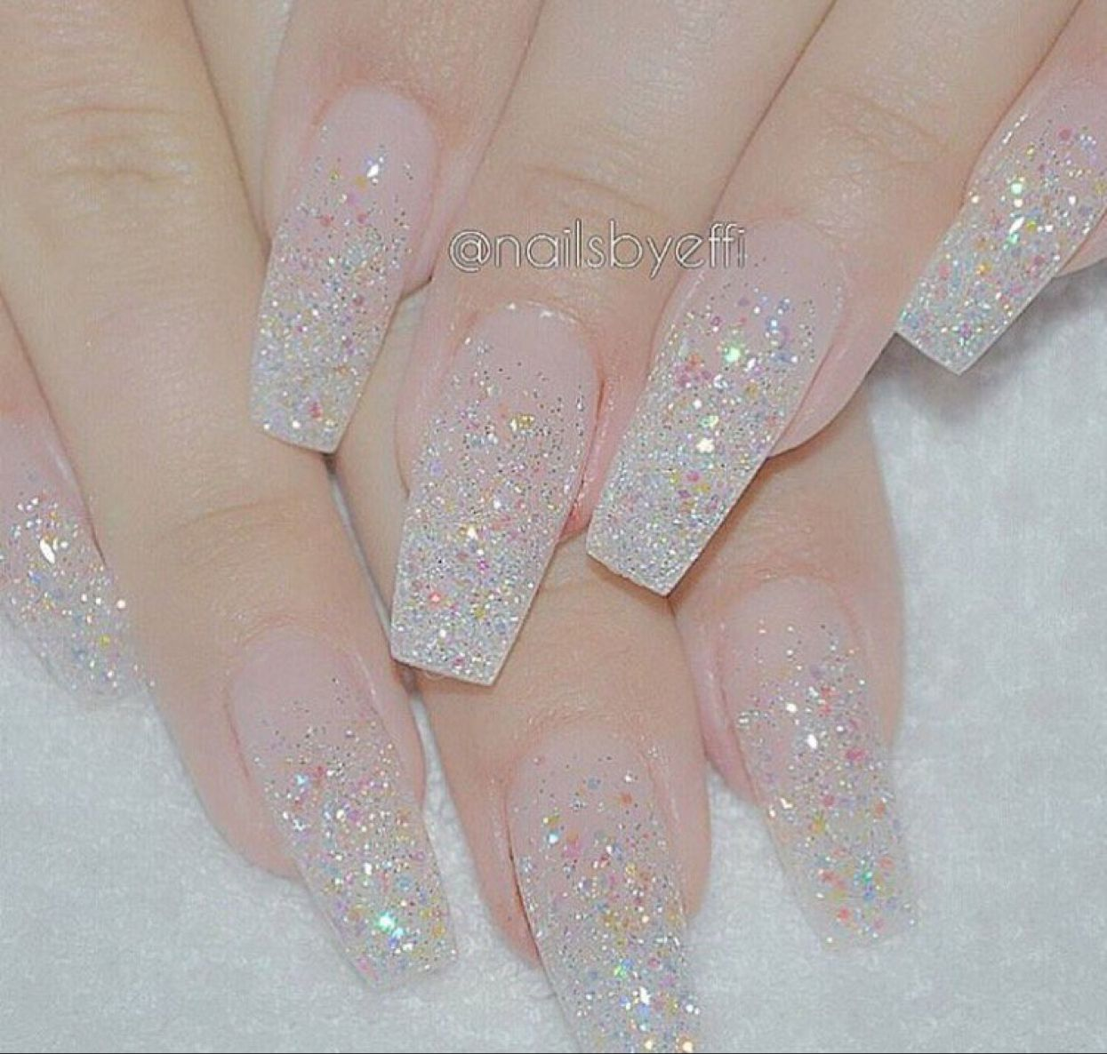 Pin by Ashley Clark on Nails in 2020 | Clear glitter nails ...