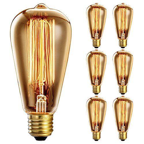 6 Pack Vintage Light Bulb 40W Oak Leaf E27 Edison Bulb Shttps Mesmerizing Kitchen Light Bulbs Design Inspiration