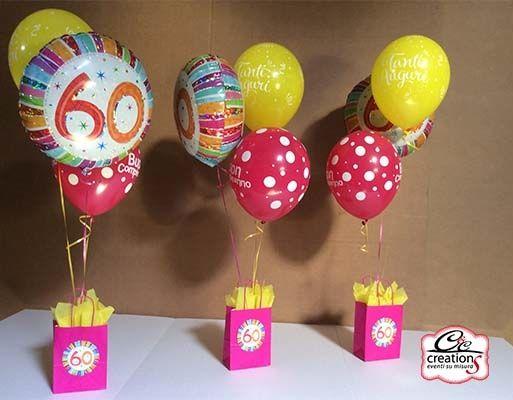 Centrotavola di palloncini per festeggiare 60 anni festa for Decorazioni feste