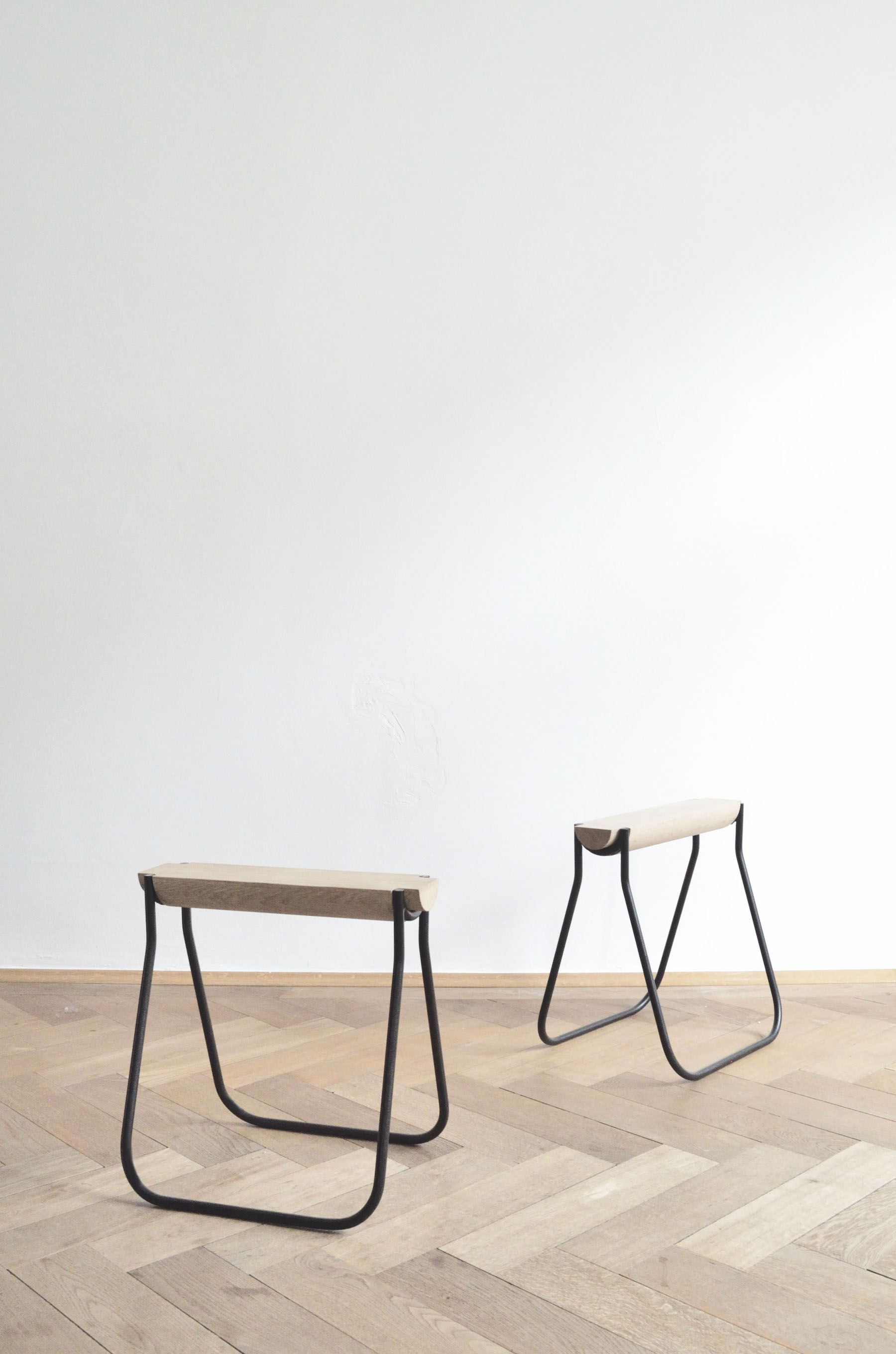 minimalist coffee stools. 6040 is a set of minimal stools created by Munich based designers Studio  Stephan Schmid furniture Minimal and Stools