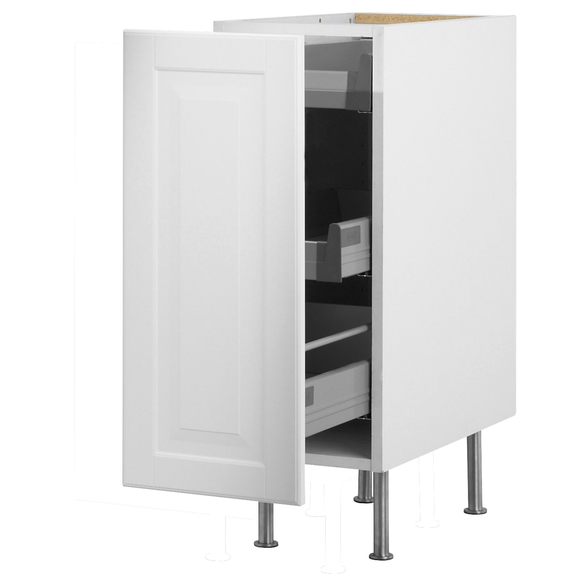 AKURUM Base Cabinet With Pull Out Storage IKEA Built In Dampers Make The  Doors Close Slowly, Quietly And Softly. Smooth Running Drawers With.