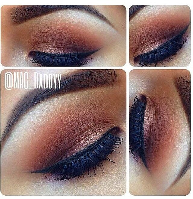 Simple Brown Fade Blend Eye Shadow Makeup Make Up Hair