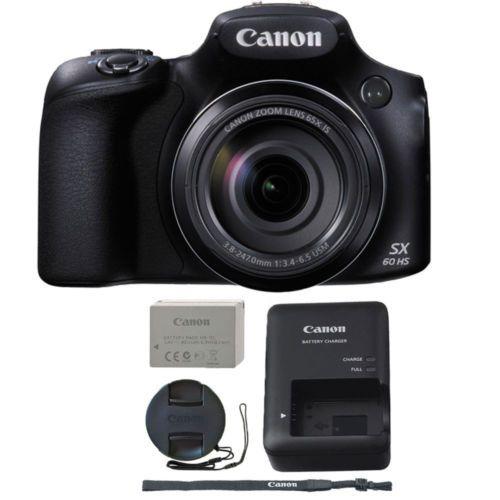 Canon Powershot Sx60 Hs 16 1mp 65x Optical Zoom Wifi Nfc Digital Camera Black Instant Digital Camera Powershot Waterproof Digital Camera