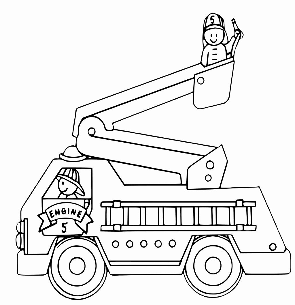 Transportation Coloring Pages for Preschoolers (With